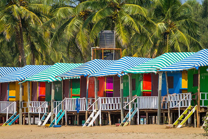 stay at homely and cheap beach shacks at goa and enjoy the goodness of its many famous beaches