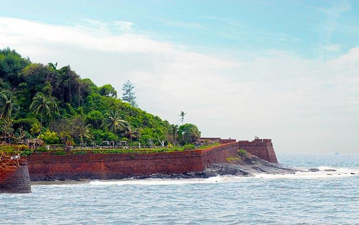 The famous Fort Aguada in Goa