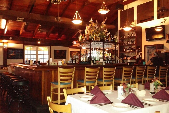 A snap of the dining facility at the Tavern on the Waterfront in the US Virgin Islands