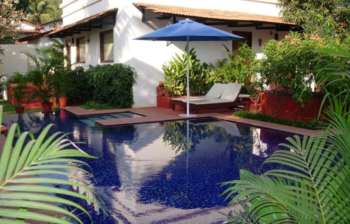 A view of the swimming pool at the Lemon Tree Amarante Beach Resort in Goa