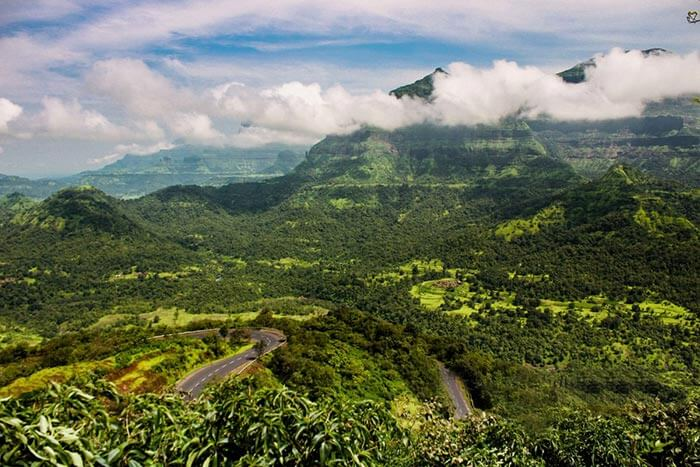 Malshej Ghat is the mountain top in Pune