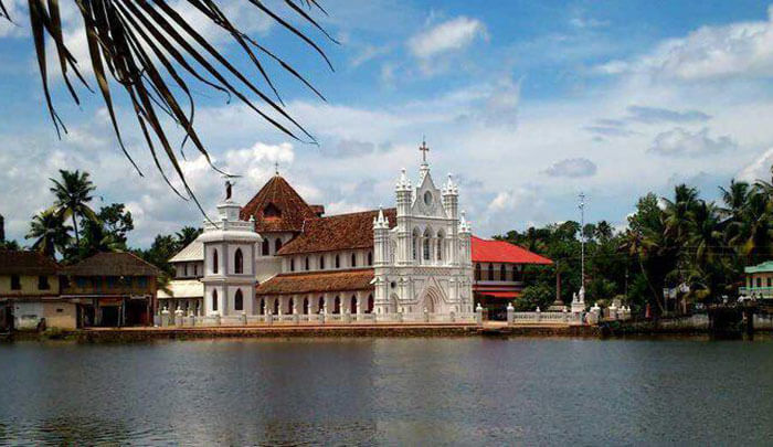 The St Mary Forane Church, among the oldest churches in Alleppey