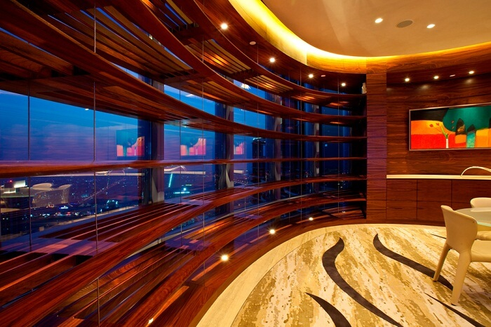 One of the rooms at the Sky Lobby on 43rd floor of Burj Khalifa