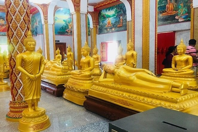 pooja thailand trip day 8 wat chalong buddha temple interior
