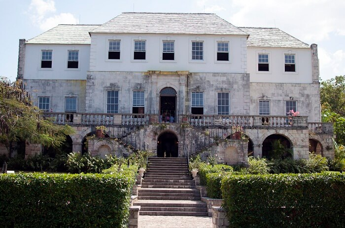 The entrance to the Rose Hall at Montego Bay in Jamaica