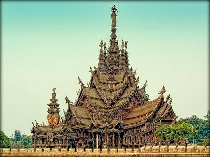 Sanctuary of truth is famous for its interiors