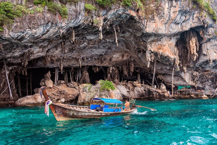 Viking Cave on Phi-Phi Lee island near May a Beach