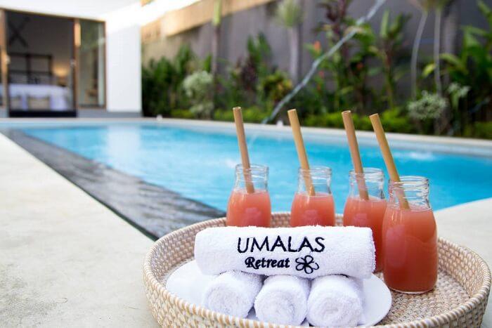 private pool in umalas retreat2 villa