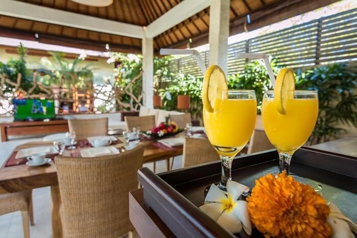 dining area in villa essence