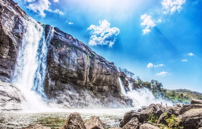 Get drenched under 80-feet tall Athirapally waterfalls in Kerala