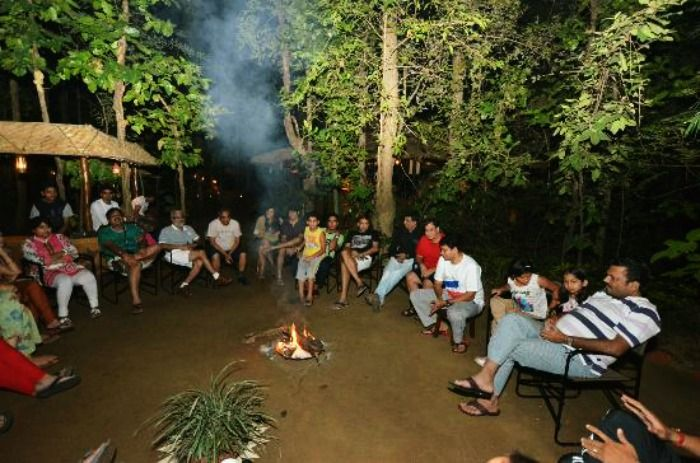 Bonfire with the wild at Kanha National Park