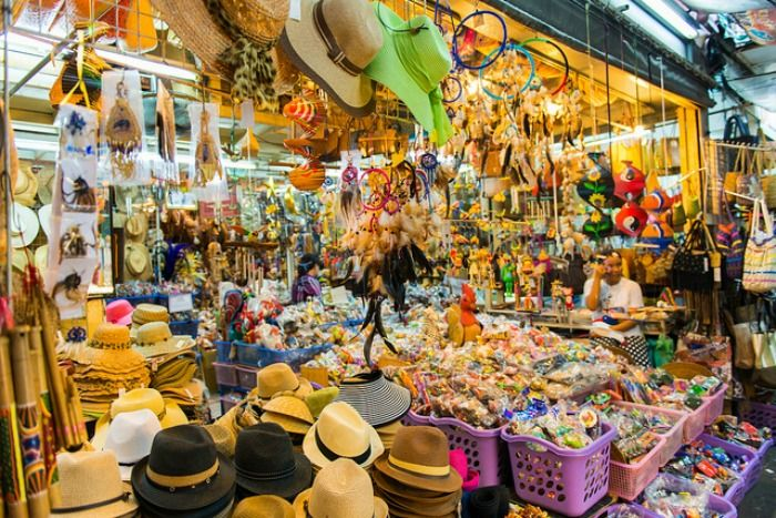 Famous Chatuchak weekend market in Bangkok