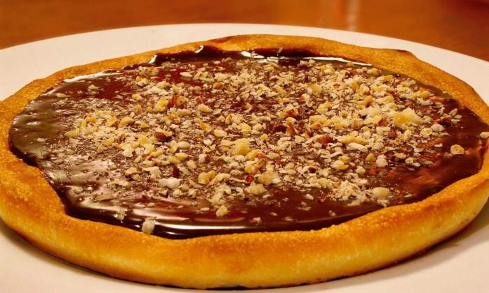 Try Chocolate Pizza on the streets of Ahmedabad