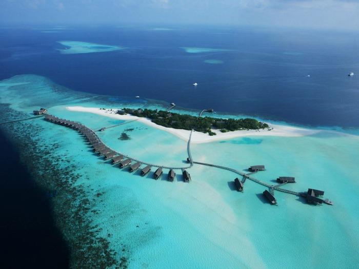 Expensive resorts at Cocoa Island, Maldives
