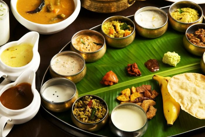 South Indian Food On Banana Leaf