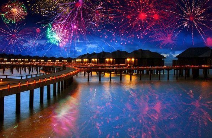 New year celebration in Maldives