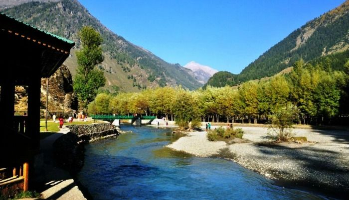 Lush greenery of Aru and Betaab valley, pahalgam