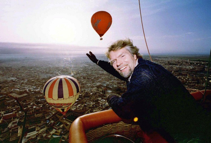 Richard Branson's Hot Air Balloon trip around the world