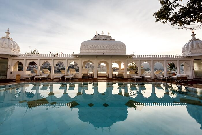 The interiors of the Taj Lake Palace in Udaipur