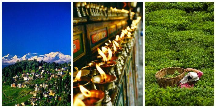 The tea estates of Darjeeling, monastery, highest peaks & deepest valleys, North East