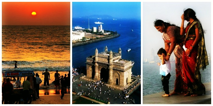Gateway of India, Marine Drive, and Juhu chaupati in Mumbai