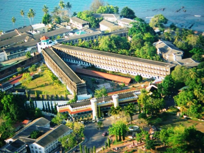 Top view of Cellular Jail in Andman and Nicobar Islands