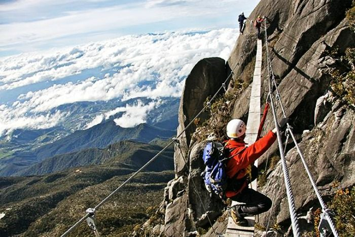 Via ferrata climbing on Mount Kinabalu, Maldives