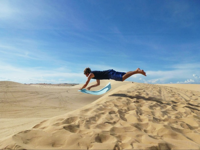 Sand boarding - one of the things to do in Southeast Asia