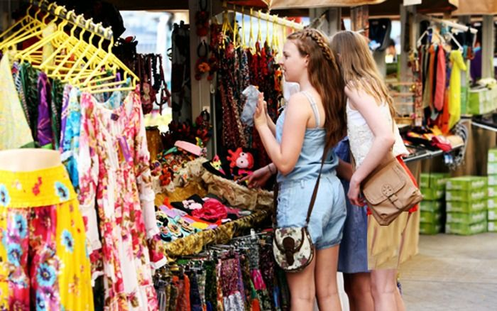 Shopping in a hub for international tourists UAE