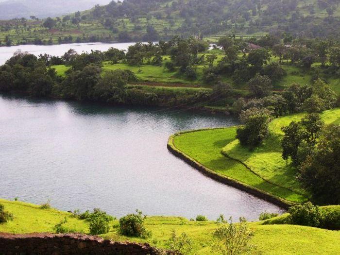 The serene view of Bhandardara Lake