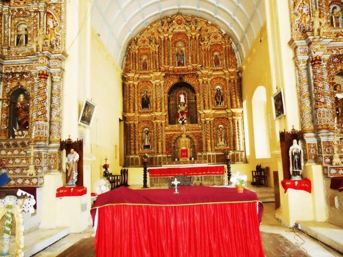 Inside the Church of Bom Jesus at Daman