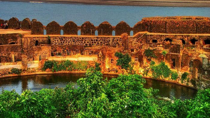 The interiors of Murud-janjira fort