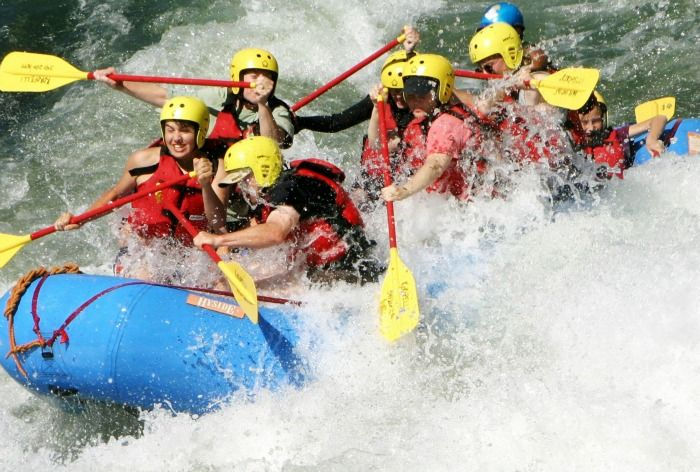 Whitewater rafting on the Rogue River, Himalayas