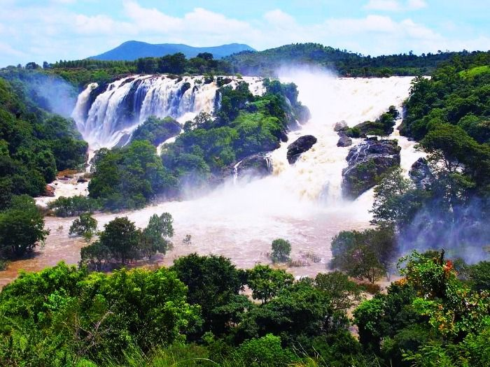 Shivanasamudra Waterfalls near Bangalore
