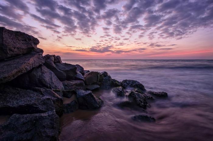 Enjoy Sunset at Negombo Coast beach, Sri Lanka