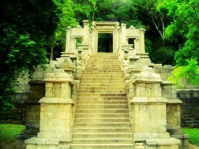 Yapahuwa Rock Fortress in Sri Lanka