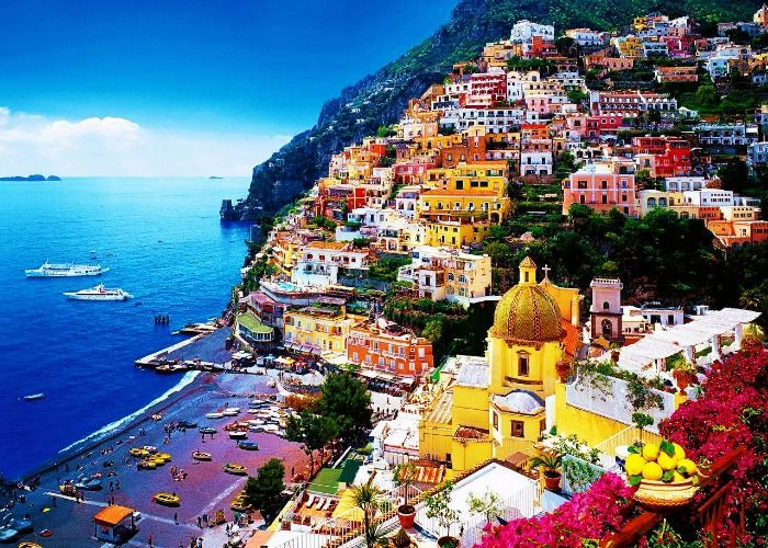 The Italian 'buon appetito' experience at Amalfi Coast along the Mediterranean