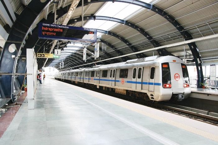 Delhi metros save the travellers from the wrath of the weather
