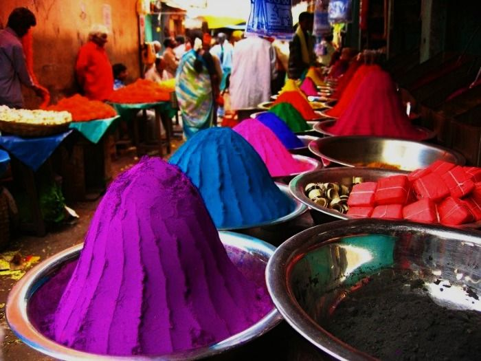 Shop selling incense stick, perfume and colour powder at Devaraja Market
