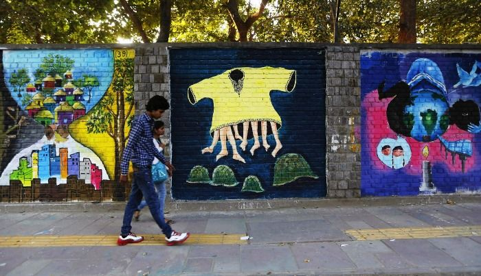 Graffiti Wall in North Campus of Delhi University
