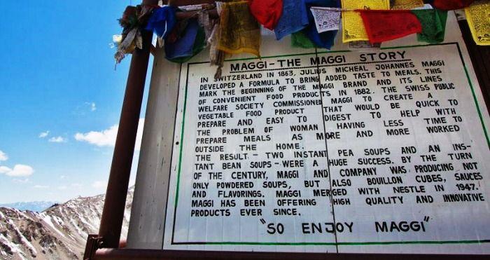History of maggi at Khardung La Pass in Ladakh