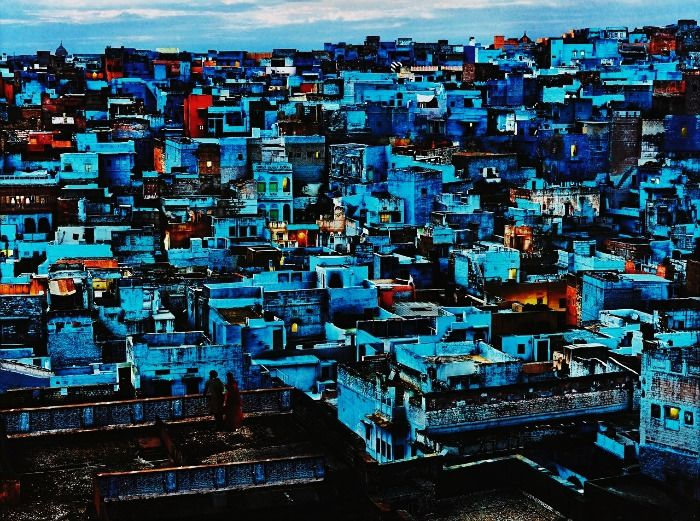View of blue houses of Jodhpur City