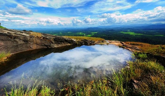 The gorgeous view from the top of Kundadri hills