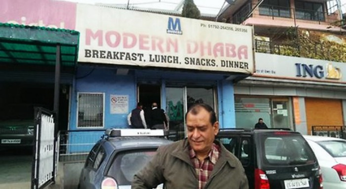 Try Rajma Chawal at the Modern Dhaba on Kalka Shimla Highway