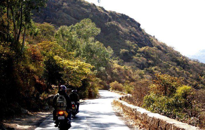 Bikers riding via Pindwara on Mount Abu Udaipur Highway