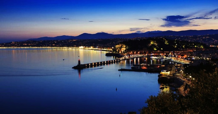 The surreal Panoramic view of Nice