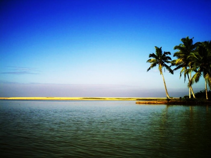 Panoramic view of Poovar Island