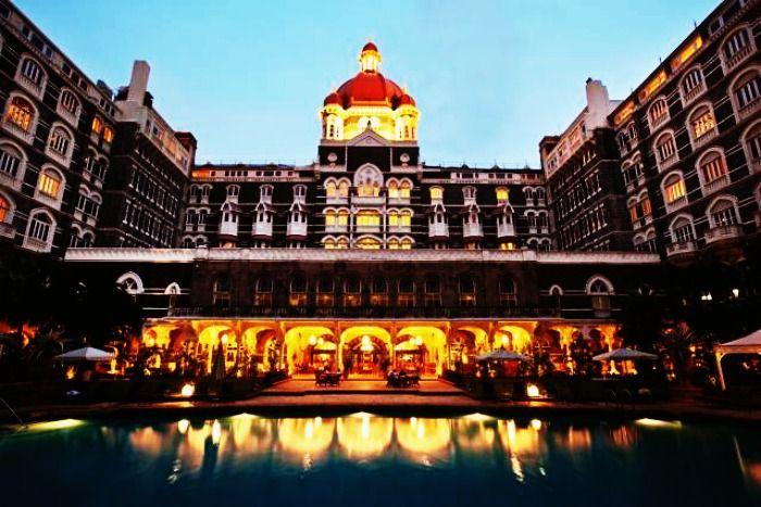 View of the Taj Mahal Palace in Mumbai