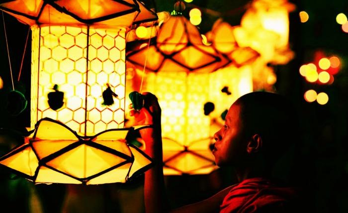 The lanterns at Vesak Festival