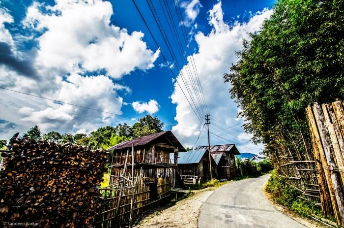 The quaint village streets of Ziro, Arunachal Pradesh